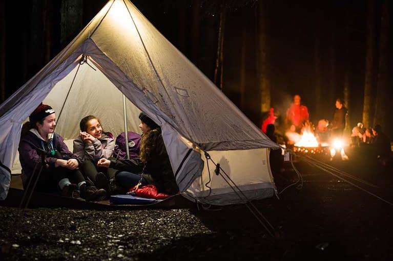 Cubs camping